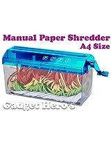 Gadget Hero's Manual Desktop Paper Shredder Machine A4 Size (220mm)