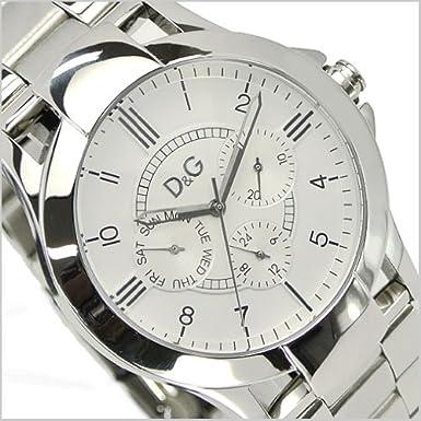 D&G(ドルチェ & ガッバーナ)TEXAS(テキサス) マルチカレンダー腕時計 ・男性用・ホワイト文字盤/ステンレスベルト