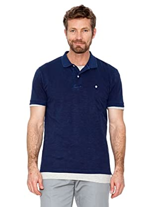 Cortefiel Polo Basic + T-Shirt (Marine)