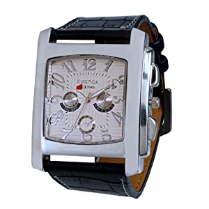 Exotica Analog White Dial Men's Watch (EX-20W)