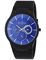 Skagen Titanium Analog Blue Dial Men's Watch - 809XLTBN