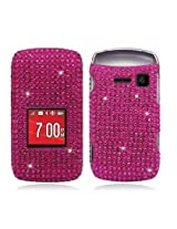 Aimo KYOS2150PCDI003 Dazzling Diamond Bling Case for Kyocera Kona S2150 - Retail Packaging - All Hot Pink