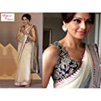 Exclusive Bollywood Collection Cream Color Net Saree