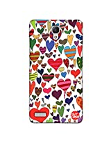 Designer xiaomi Note 4G Case Cover Nutcase - French Hearts