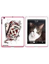 Ace Jack of Spades - Deck Cards Poker Gambling - Snap On Hard Protective Case for Apple iPad 2 3 4 - Pink