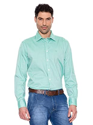 Pedro del Hierro Unifarbenes Hemd (Grün)