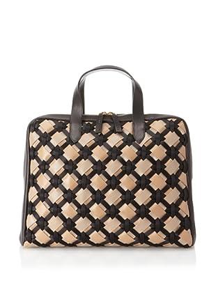 MARNI Women's Handbag with Weave Detail, Beige/Black