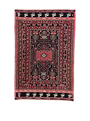 L'EDEN DEL TAPPETO Alfombra Goochan Afgan Marrón/Multicolor 135 x 205 cm