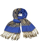 Dahlia Women's Pashmina Scarf - Indian Motifs - Blue