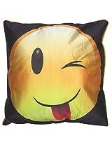 Twisha Smile With Wink Pillow 12 X 12 X 4 Inch