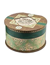 Cottage Garden Sister Belle Papier Round Musical Jewelry Box Inspirational with Elegance Finish Plays How Great Thou Art