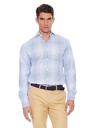 Hackett Camisa Cuadros (Blanco / Azul)