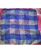 Blue Pure Silk Square Stole
