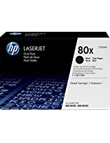 HP 80X High Yield Original LaserJet Toner Cartridge, Black