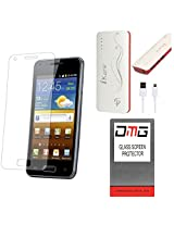 DMG Premium Shatter Proof Tempered Glass Ultra Clear Screen Protector for MICROMAX TAB P666 + 10000 mAh Power Bank