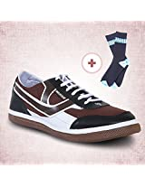 Casual Shoes - Brown With Id Socks