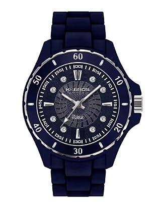 K&BROS 9551-6 / Reloj de Señora con correa de caucho azul