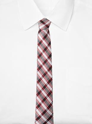 Ben Sherman Men's Westin Plaid Tie (Red)