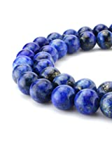 Beadnova High Quality Natural Gemstone - Blue Lapis Lazuli Beads/10mm AD