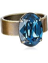 """Liz Palacios """"Piedras"""" Swarovski Montana Crystal Ring, Size 7"""