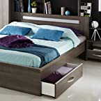 Parisot Bed Storage Drawer with Dark Finish - Stella