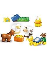 Sluban M38-B6016 Lego Happy Farm Brick Toy, Multi Colour