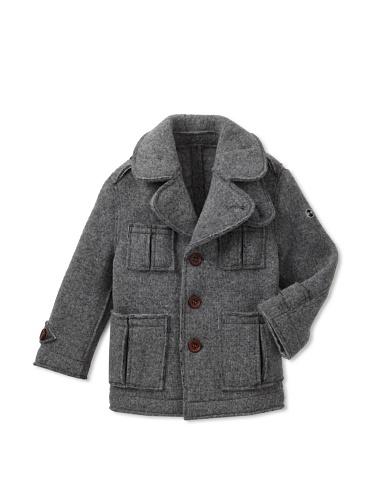 hitch-hiker Boy's Knit Jacket (Grigio)
