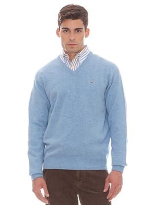 Gant Jersey Liso Pico (azul claro)