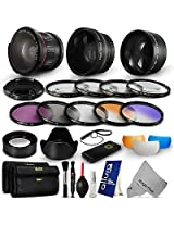 Lens & Filter Kit for Nikon D7000 D5100 D5000 D3200 D3100 D3000 ( 28 Pcs)