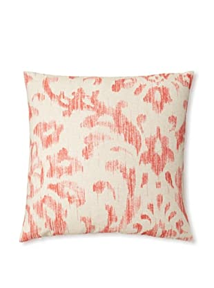 The Pillow Collection Ignace Ikat Decorative Pillow, Red, 18