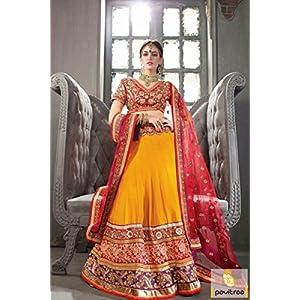 Pavitraa Fashion Embroidered Lehenga Choli - Yellow
