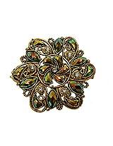 Swaraj Adele Floral Green Alloy Hairpin For Women