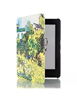 ProElite Ultra Slim Flip Case Cover for Amazon Kindle Voyage & Voyage 3G (Design-Garden) (Sleep/Wake) (Magnetic Lock)