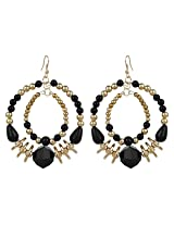 Party Look Gold & Black Color Designer Earings By Lazreena
