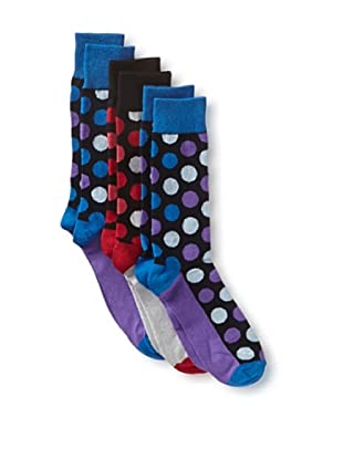 English Laundry Men's Colorful Dots - 3 Pack Socks (Assorted)
