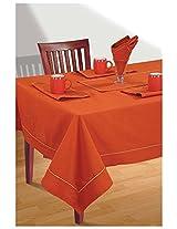 SWAYAM Cotton 10 Piece Kitchen Linen Set - Rusty Orange
