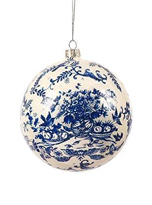 Winward Handpainted Glass Ornament II, Blue/White