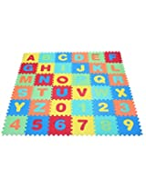 Kiddy Numbers (0-9) & Alphabet (A-Z) Puzzle Mat-9005,36 Pcs