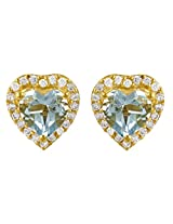 Exxotic Stunning Fashion Gold Plated Silver Stud Earring For Girls & Women