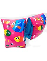 Play Day Ages 3 6 Pink School Of Fish Multi Color Armband Water Wings