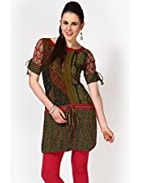 Short Sleeve Embellished Multi Kurti