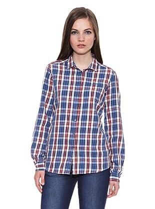 Carrera Jeans Camisa Estampada M/L (Azul)