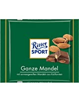 Ritter Sport Bar, Milk Chocolate with whole almonds - 100 Grams