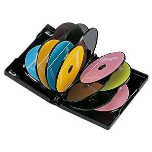 【クリックでお店のこの商品のページへ】SANWA SUPPLY DVD-W12-03BK DVDトールケース(12枚収納) ブラック