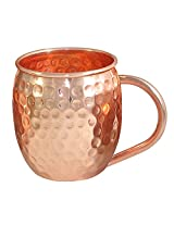 DakshCraft ® Hammered Moscow Mule, No Nickle Lining - Pure Copper Hammered Cocktail Mugs, (Capacity 490 ml per mug )