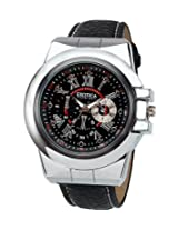 Exotica Black Dial Analogue Watch for Men (EFG-07-B-LB)