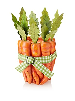 Carrot Bundle Candle Holder, Orange/Green