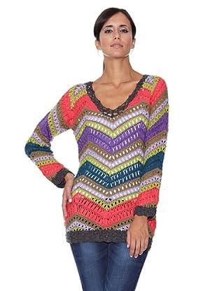 Peace & Love Jersey Crochet Multicolor (Multicolor)