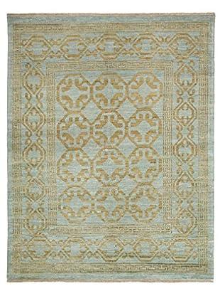 Darya Rugs Fine Oushak Oriental Rug, Blue, 5' 3