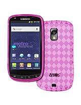 MetroPCS Samsung Galaxy S Lightray 4G R940 Poly Skin Case Cover, Hot Pink Diamond Pattern